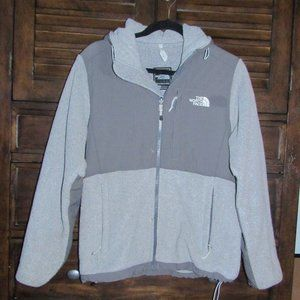 Grey Hooded North Face